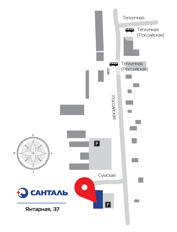 Клинико-диагностический центр Санталь (Краснодар) на Янтарной 37 / Российская 301