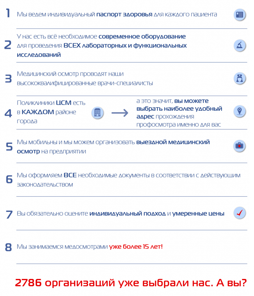 Преимущества профосмотров в ЦСМ в Томске